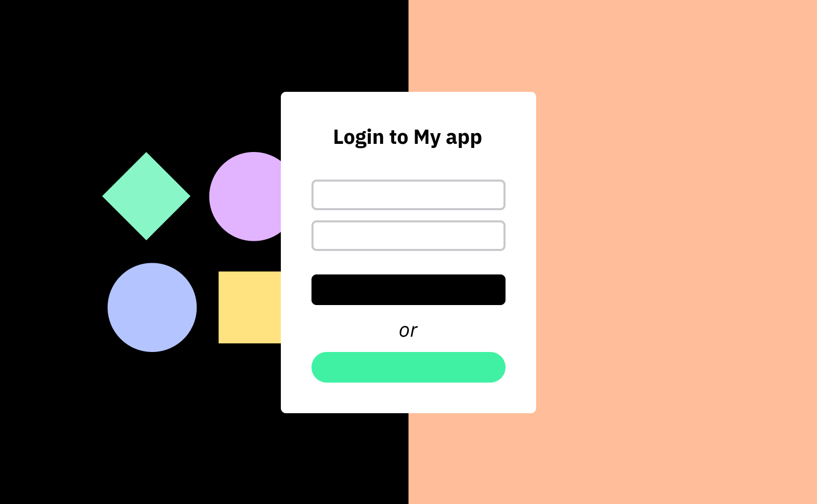 Login page in your app